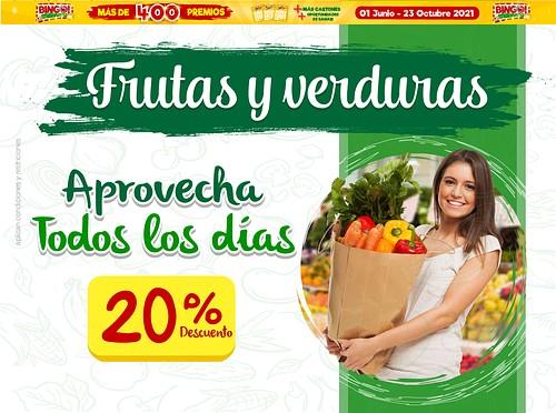 20% Descuento Frutas Y Verduras